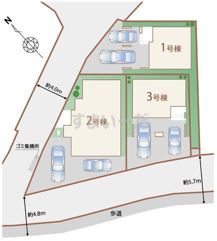 ハートフルタウン 仙台新田3期の見取り図