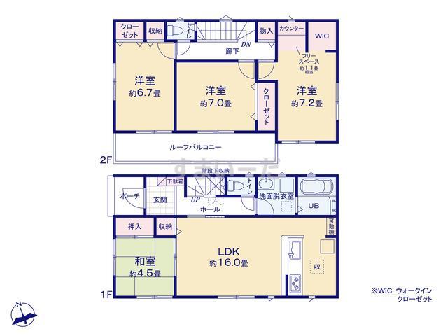 リナージュ 浜松市西区舞阪町舞阪20-1期の見取り図