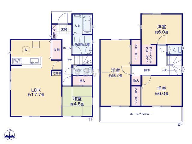 リナージュ 浜松市南区渡瀬町20-1期の見取り図