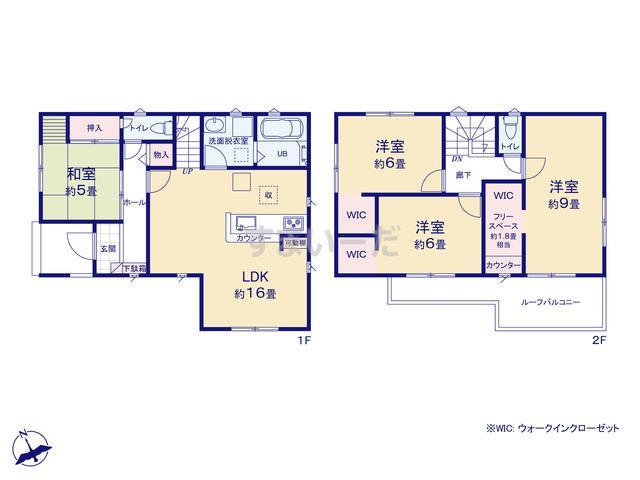 リナージュ 浜松市東区笠井町20-1期の見取り図