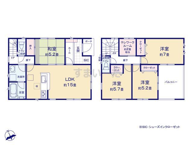 クレイドルガーデン 名古屋市緑区桶狭間西 第1の見取り図