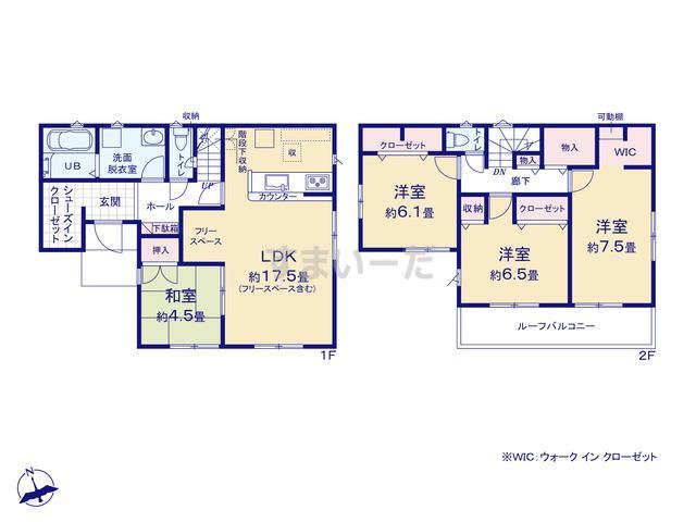 リナージュ 広島市安佐南区長束西20-1期の見取り図