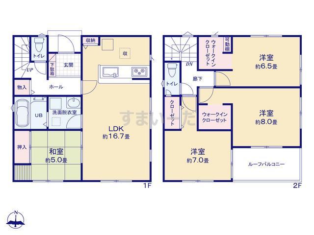 リナージュ 島田市旭20-2期の見取り図