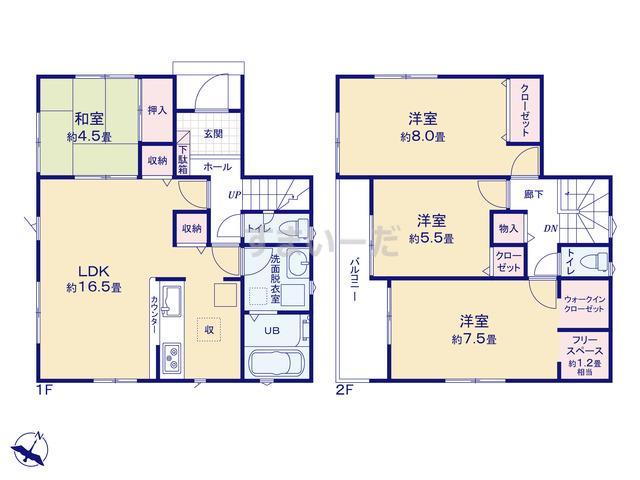 リナージュ 広島市安芸区上瀬野20-1期の見取り図