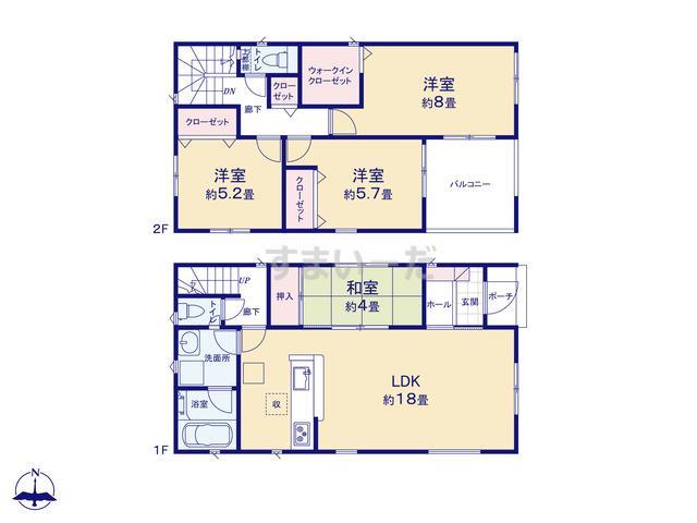 クレイドルガーデン 名古屋市港区大西 第2の見取り図