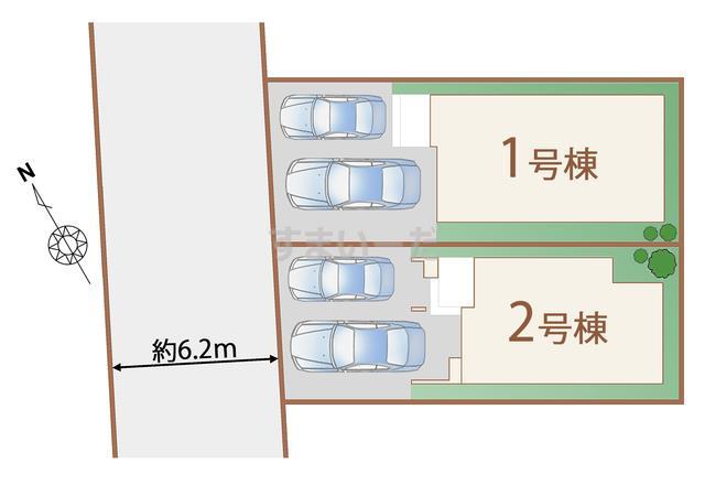 ハートフルタウン 仙台東仙台9期の見取り図