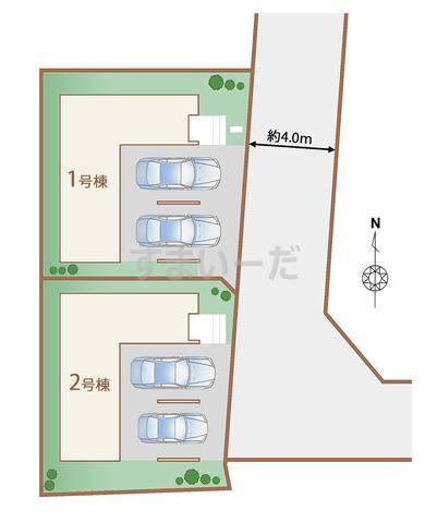 ハートフルタウン 仙台泉崎一丁目の見取り図