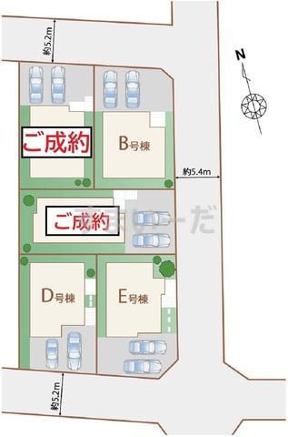 ハートフルタウン 仙台松ヶ丘6期の見取り図