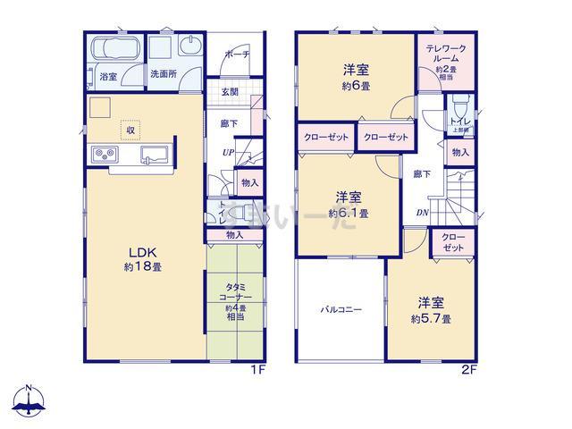 クレイドルガーデン 大阪市生野区巽北 第1の見取り図