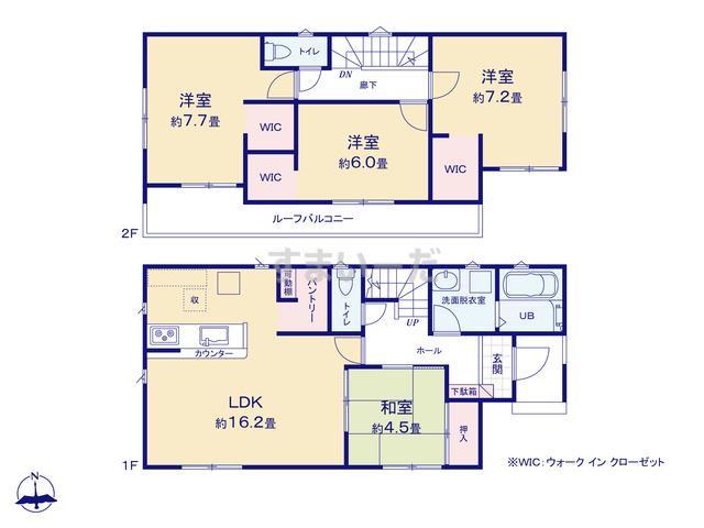リナージュ 武豊町明神戸20-1期の見取り図