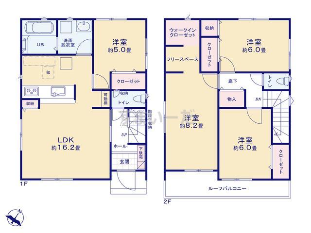 リナージュ 静岡市駿河区中島20-3期の見取り図