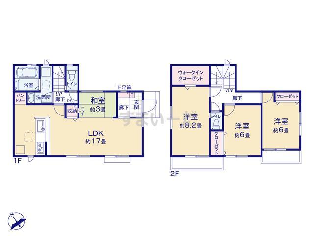 グラファーレ 横浜市下田町3棟の見取り図