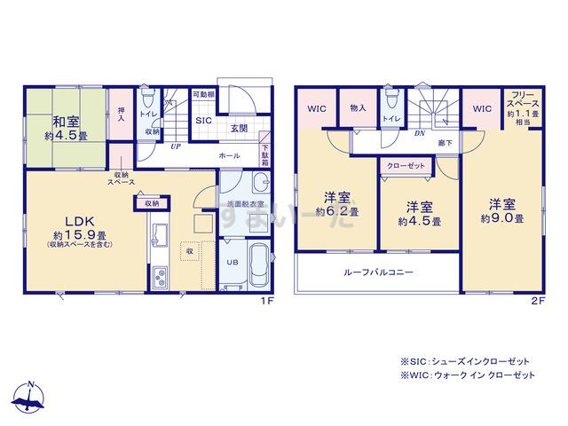 リナージュ 広島市東区福田20-2期の見取り図