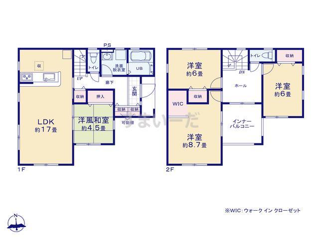リーブルガーデン 葵区桜町1丁目2期の見取り図