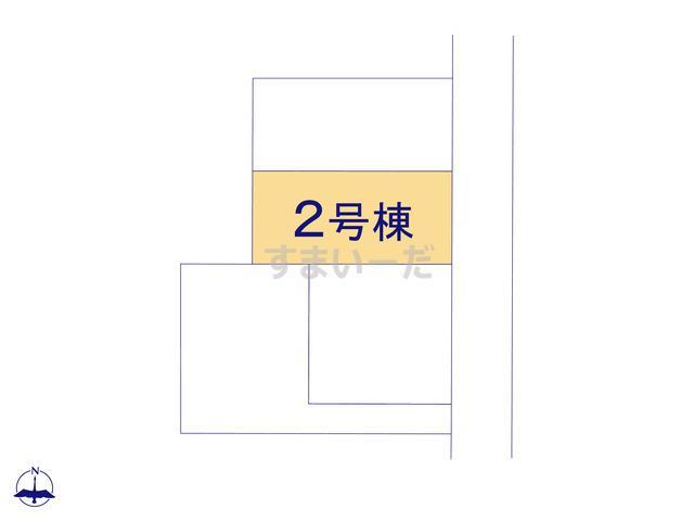 グラファーレ いわき市平沼ノ内諏訪原2期4棟の見取り図