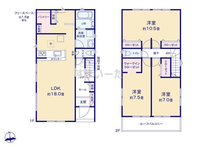 リナージュ 栃木市大平町富田20-1期の見取り図