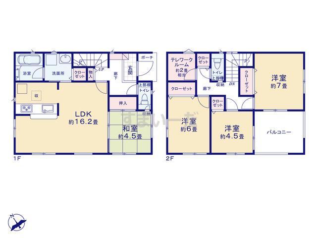 クレイドルガーデン 広島市安佐北区可部東 第6-II期の見取り図