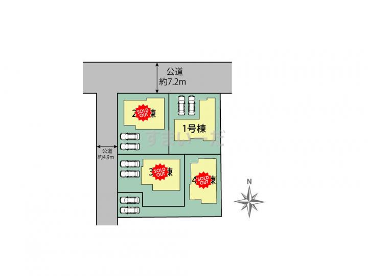ブルーミングガーデン 熊本県合志市須屋4棟の見取り図