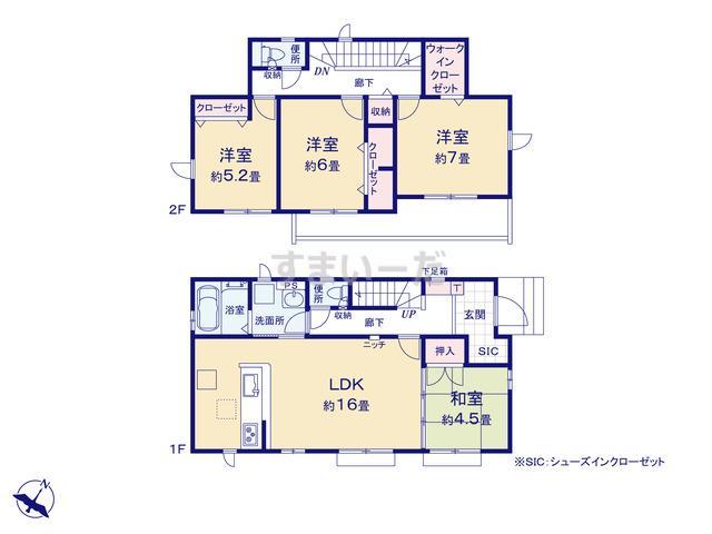 グラファーレ 所沢市和ヶ原8期2棟の見取り図