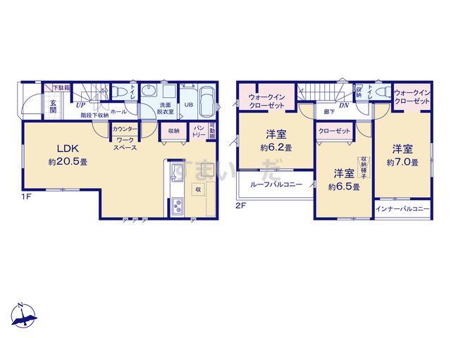 リナージュ 藤沢市菖蒲沢20-1期の見取り図