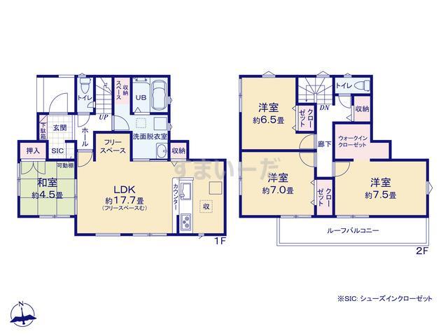 リナージュ 熊谷市大原20-1期の見取り図