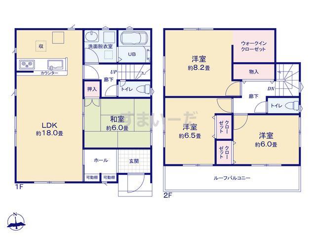 リナージュ 名古屋市港区大西20-1期の見取り図