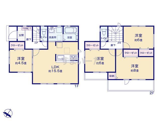 グラファーレ 名古屋市比良3期1棟の見取り図