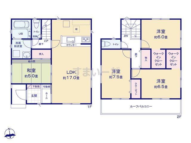 リナージュ 名古屋市中川区下之一色町20-3期の見取り図