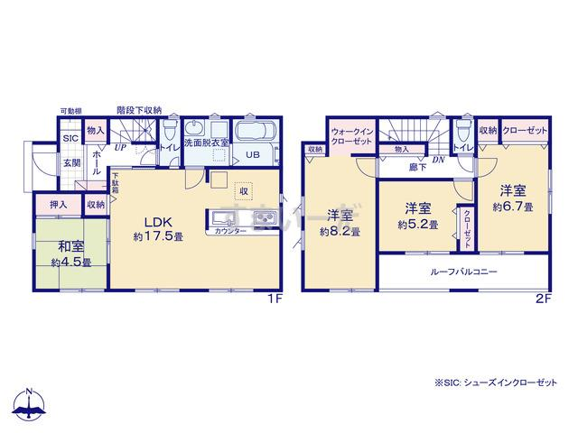 リナージュ 広島市安佐南区長束西20-2期の見取り図