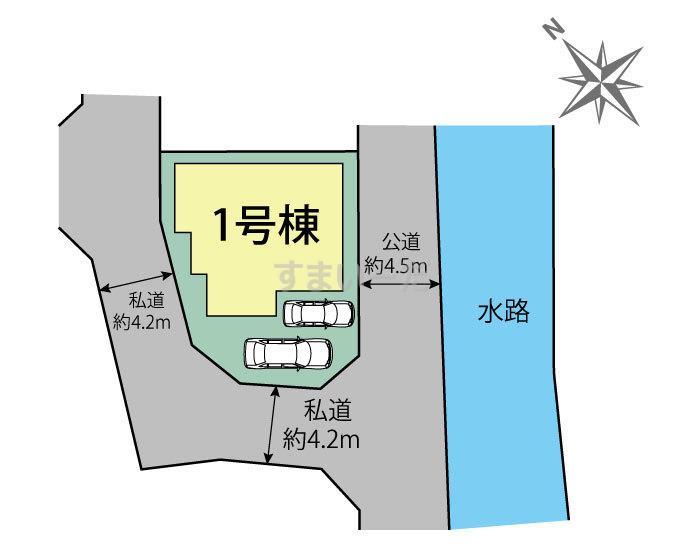 ブルーミングガーデン 熊谷市久保島1棟の見取り図