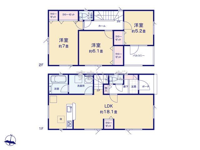クレイドルガーデン 札幌市東区北十八条東 第1の見取り図