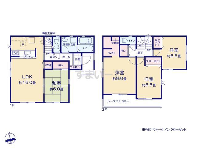 リナージュ 広島市安佐北区三入20-1期の見取り図