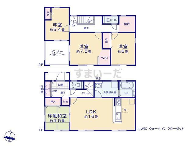 リーブルガーデン 田川市川宮第1の見取り図