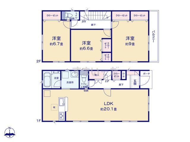 クレイドルガーデン 小平市栄町 第3の見取り図