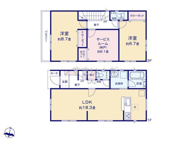 クレイドルガーデン 葛飾区鎌倉 第12の見取り図
