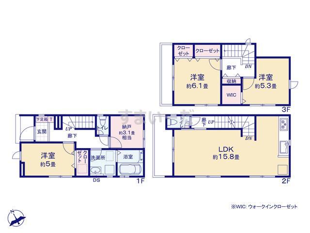 グラファーレ 広島市江波西2棟の見取り図