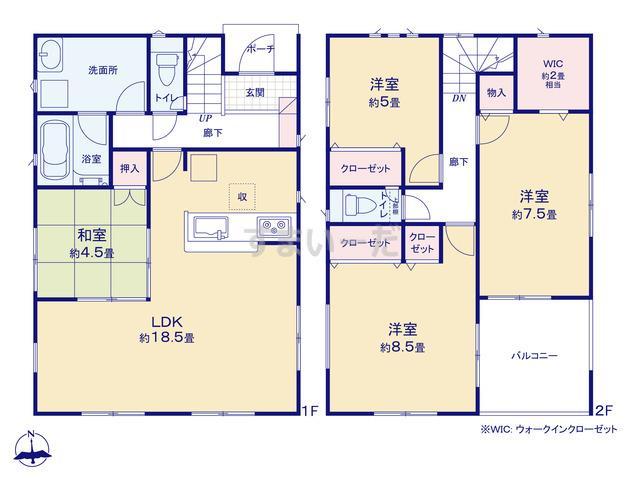 クレイドルガーデン 北九州市小倉南区葛原東 第2の見取り図