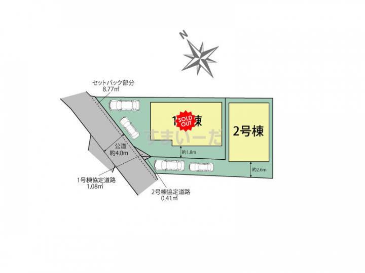 ブルーミングガーデン 千葉市花見川区作新台6丁目2棟の見取り図