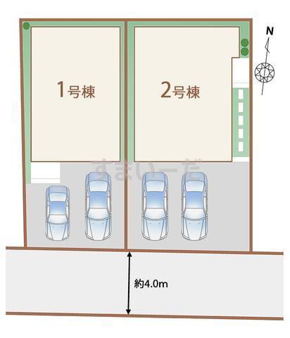 ハートフルタウン 沖縄市上地IIの見取り図