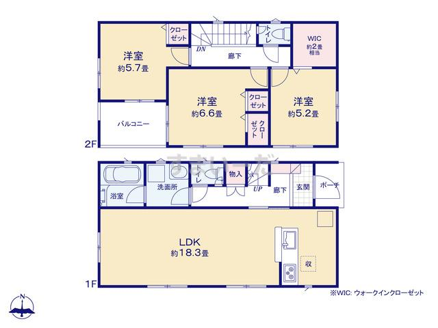 クレイドルガーデン 江戸川区東葛西 第4の見取り図