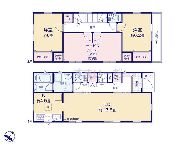 クレイドルガーデン 静岡市清水区長崎南町 第1の見取り図