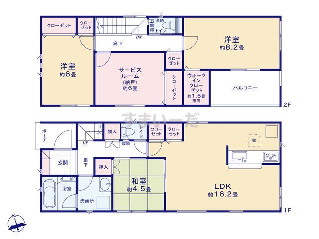 クレイドルガーデン 静岡市葵区与一 第1の見取り図