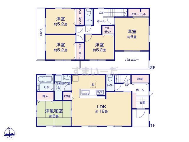 リーブルガーデン 堺北区東上野芝町4期の見取り図