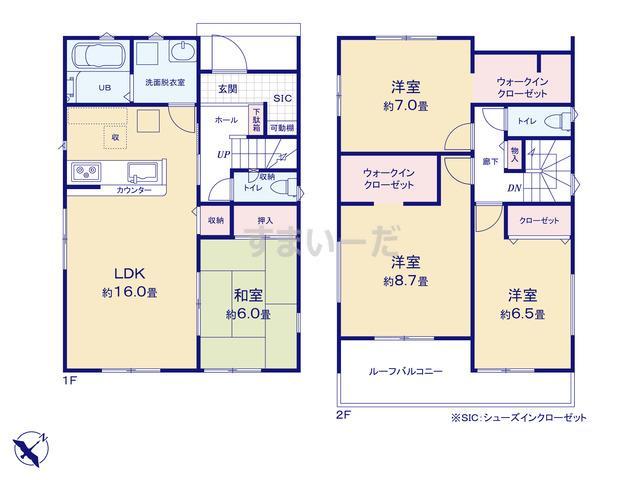 リナージュ 香取市佐原ロ20-2期の見取り図