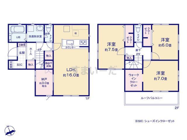 リナージュ 広島市佐伯区坪井20-1期の見取り図