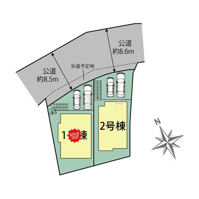 ブルーミングガーデン 横浜市戸塚区小雀町2棟の見取り図