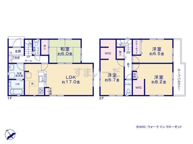 リナージュ 神戸市西区玉津町新方20-1期の見取り図
