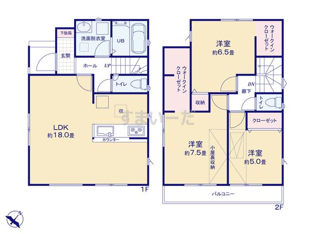 リナージュ 堺市北区大豆塚町20-1期の見取り図