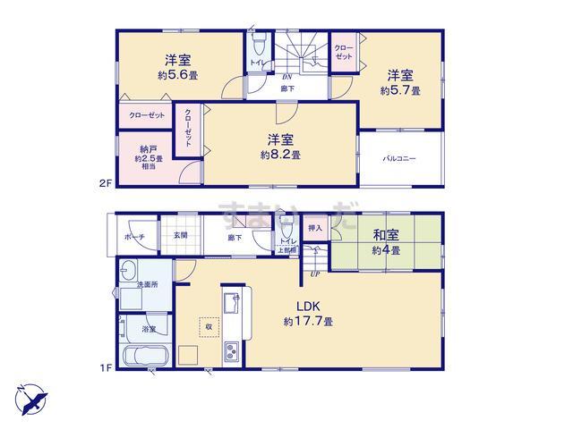 クレイドルガーデン 名古屋市緑区大清水 第2の見取り図