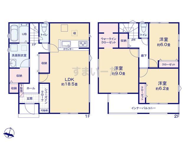 リナージュ 熊谷市石原20-2期の見取り図